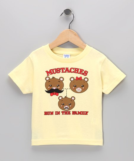 Banana 'Mustaches Run In the Family' Tee - Toddler & Kids