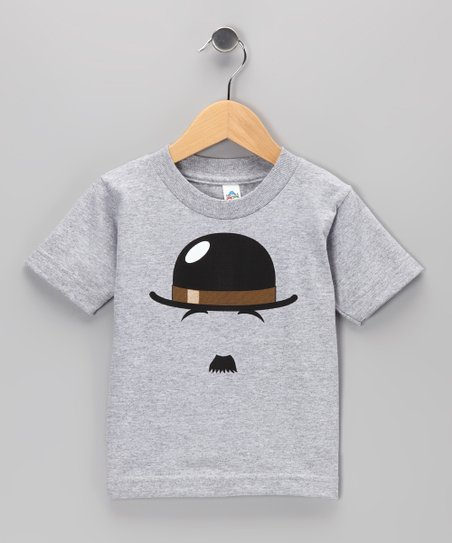 Athletic Heather Chaplin Mustache Tee - Toddler & Kids
