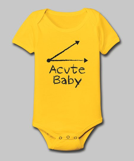 Yellow 'Acute Baby' Bodysuit - Infant