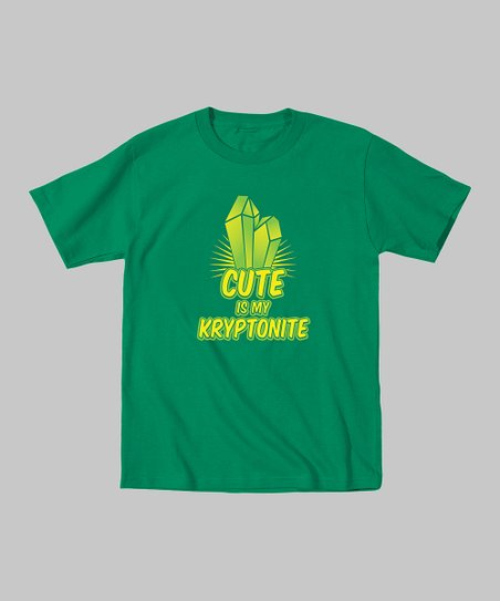 Kelly Green 'Cute Is My Kryptonite' Tee - Toddler & Boys