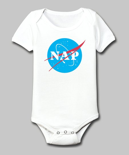 White 'Nap' Bodysuit - Infant