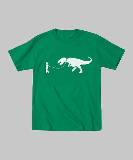 Kelly Green Pet T-Rex Tee - Toddler & Kids