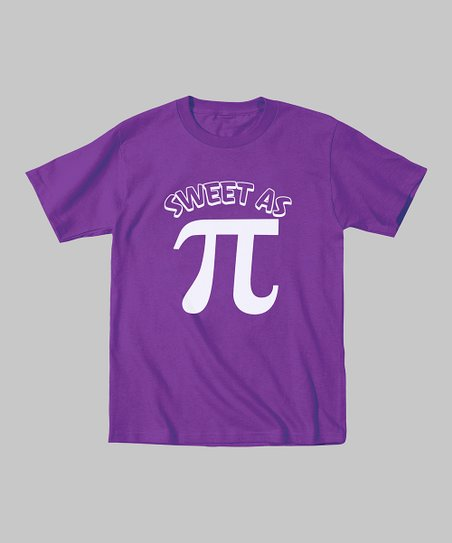 Purple 'Sweet as Pi' Tee - Toddler & Kids
