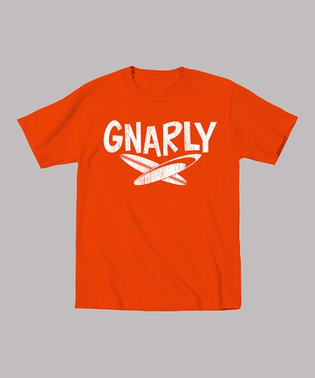 Orange 'Gnarly' Tee - Toddler & Kids