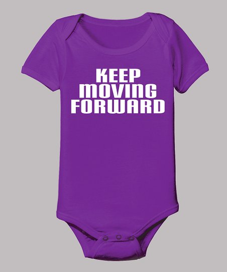 Purple 'Keep Moving Forward' Bodysuit - Infant