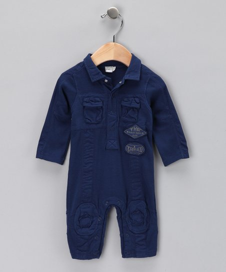 Indigo Polo Playsuit - Infant