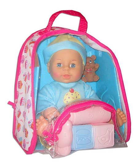 Blue Baby Doll & Backpack Set