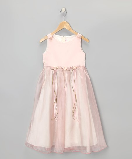 Rose Satin Organza Dress - Infant, Toddler & Girls