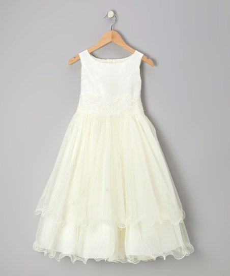 Ivory Lace Tiered Dress - Toddler & Girls