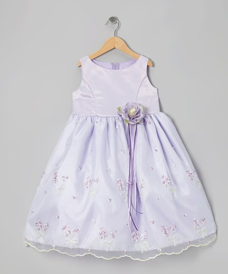 Lilac Embroidered Dress - Infant, Toddler & Girls