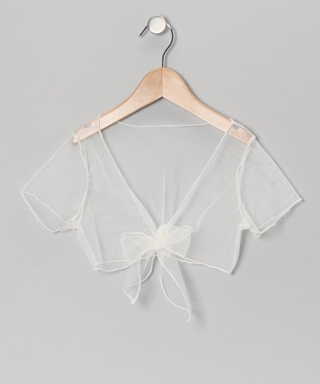 Ivory Sheer Shrug - Toddler & Girls