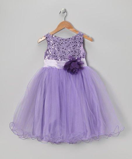 Lavender Sequin Tulle A-Line Dress – Infant, Toddler & Girls