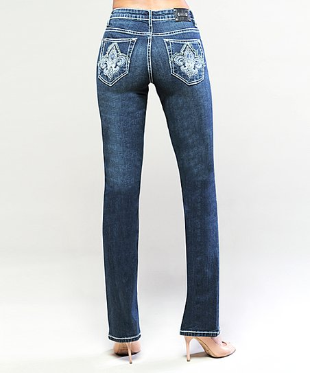 Dark Indigo Toronto Straight-Leg Jeans
