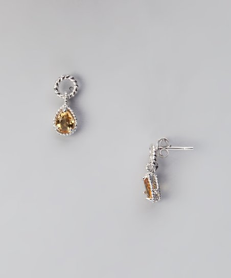 Sterling Silver & Citrine Earrings