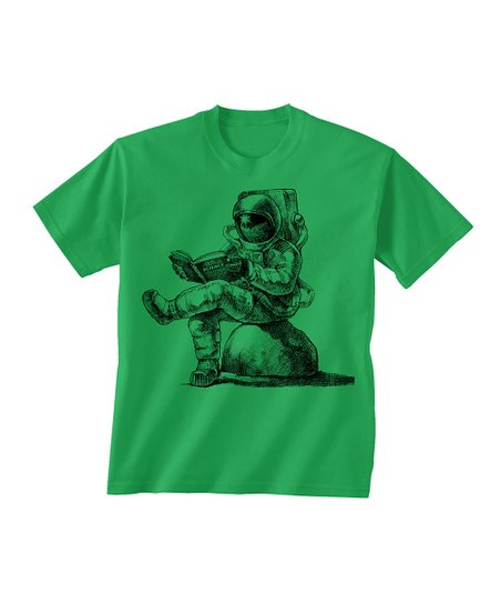 Skip N' Whistle Green Astronaut Reading Tee - Toddler & Boys