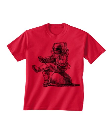 Skip N' Whistle Red Astronaut Reading Tee - Toddler & Boys