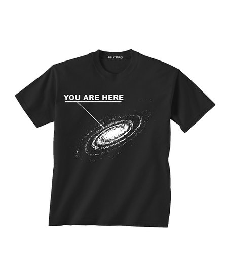 Skip N' Whistle Black 'You Are Here' Tee - Toddler & Boys