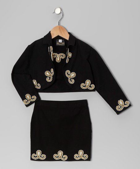 Black Matador Skirt Set - Toddler & Girls