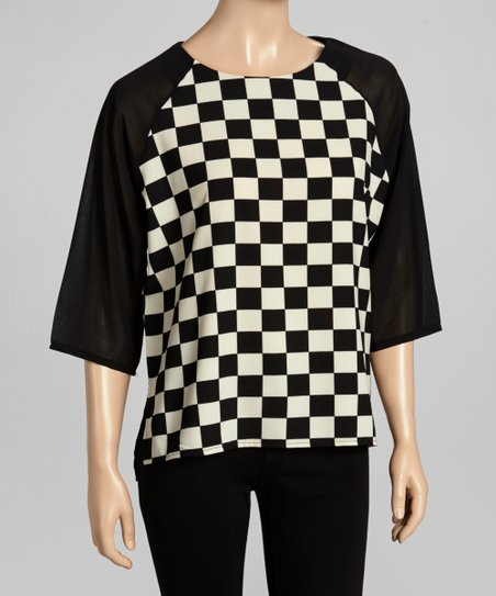 Black & White Checkerboard Tunic