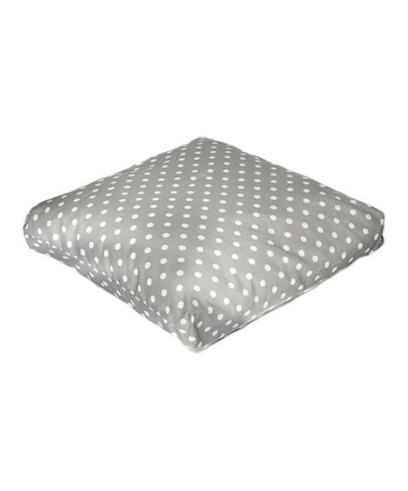 Gray Polka Dot Indoor/Outdoor Floor Pillow