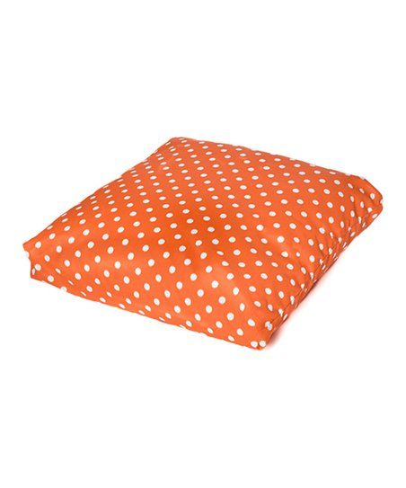 Orange Polka Dot Indoor/Outdoor Floor Pillow