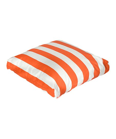 Orange Cabana Indoor/Outdoor Floor Pillow