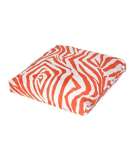 Orange Zebra Indoor/Outdoor Floor Pillow