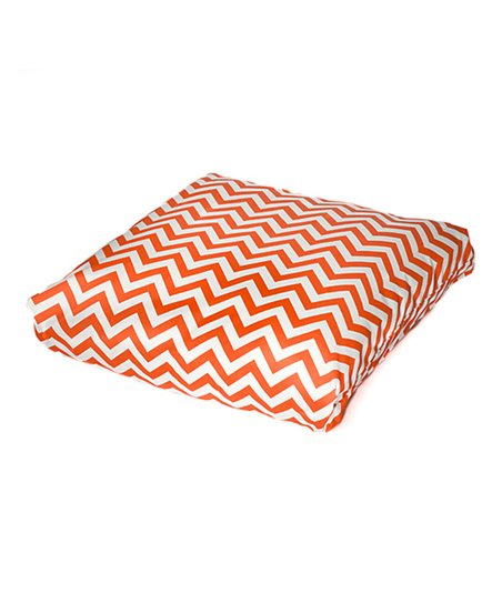 Orange Chevron Indoor/Outdoor Floor Pillow