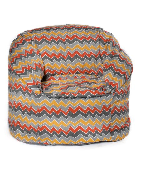 Citrus Zigzag Outdoor Mushroom Chair