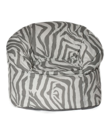 Gray Zebra Outdoor Mushroom Chair