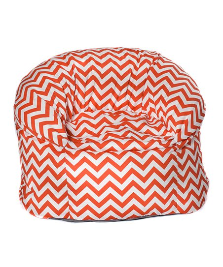 Orange Chevron Outdoor Mushroom Chair