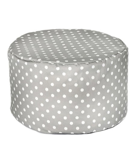 Gray Polka Dot Outdoor Pouf
