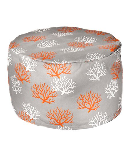 Citrus Coral Outdoor Pouf