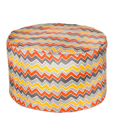 Citrus Zigzag Outdoor Pouf