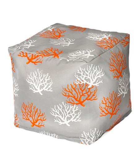 Citrus Coral Outdoor Cube