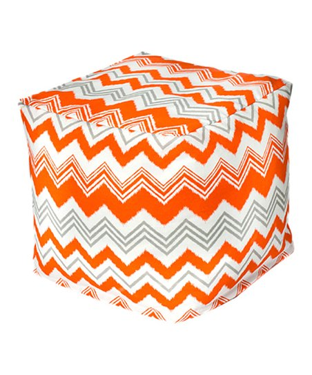 Orange Zigzag Outdoor Cube