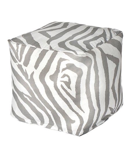 Gray Zebra Outdoor Cube