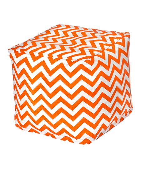 Orange Chevron Outdoor Cube