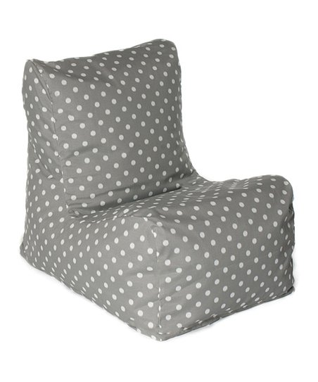 Gray Polka Dot Outdoor Chair