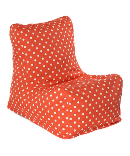 Orange Polka Dot Outdoor Chair