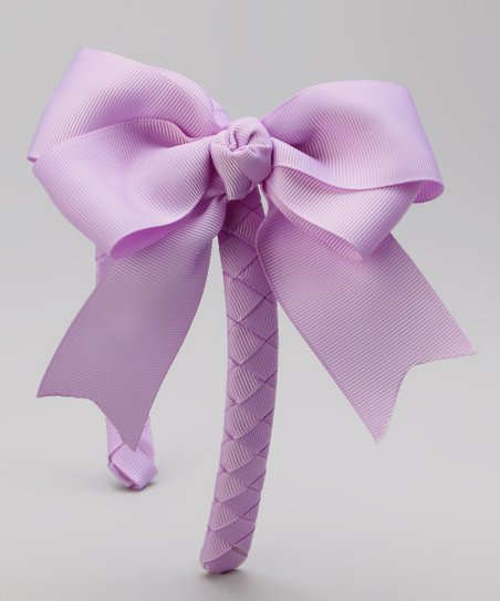 Lavender Bow Braided Headband