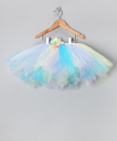 Pastel Rainbow Flower Tutu - Infant, Toddler & Girls