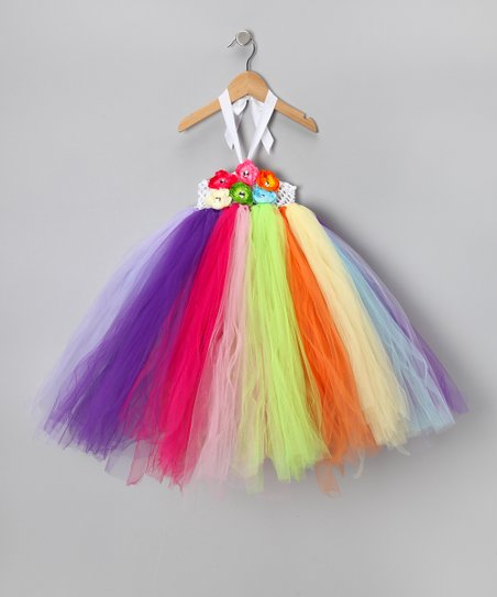 Rainbow Flower Dress - Infant, Toddler & Girls
