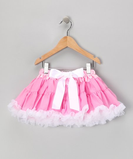 Pink Bow Pettiskirt - Infant, Toddler & Girls