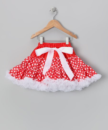 Red & White Polka Dot Pettiskirt - Infant & Toddler