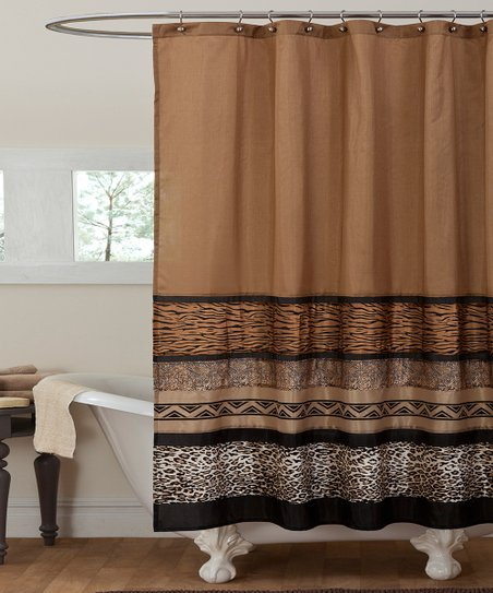Brown Tribal Dance Shower Curtain