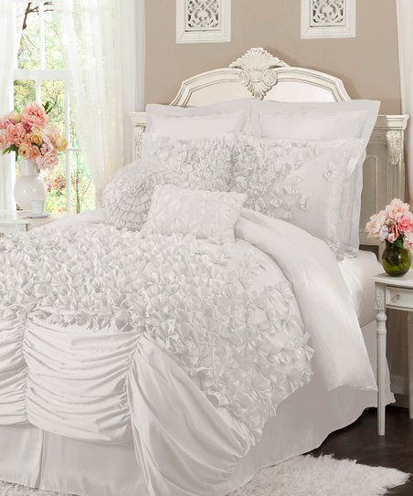 White Lucia California King Comforter Set