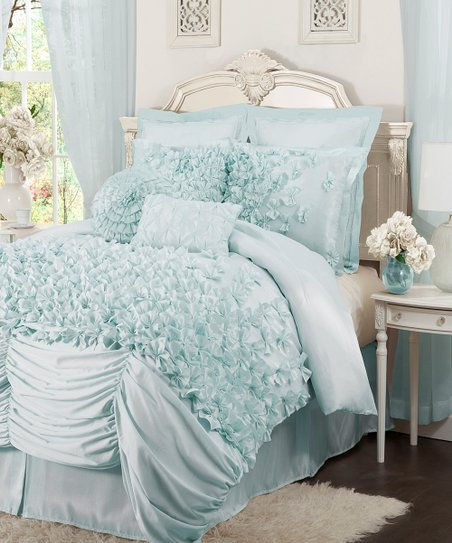 Blue Lucia California King Comforter Set