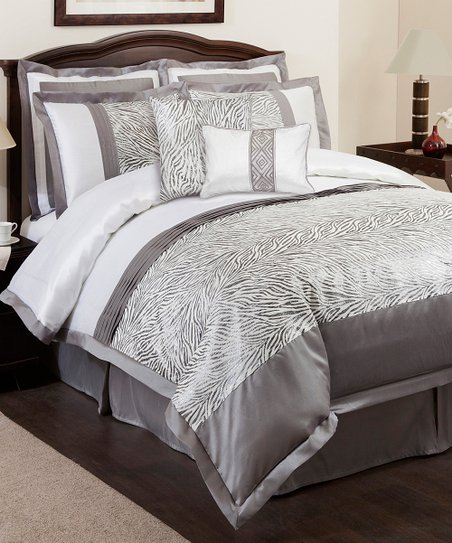 Gray Urban Savanna Comforter Set