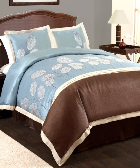 Blue & Brown Lydia Comforter Set